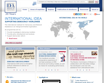 Institute for Democracy and Electoral Assistance Web page