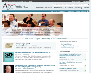 Association of Corporate Counsel Web page