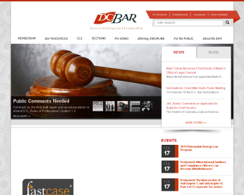 The District Of Columbia Bar Web page