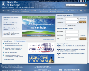 State Bar of Georgia Web page